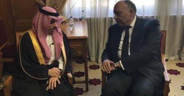 وزير الخارجية يصل القاهرة ويعقد جلسة مباحثات مع نظيره المصري