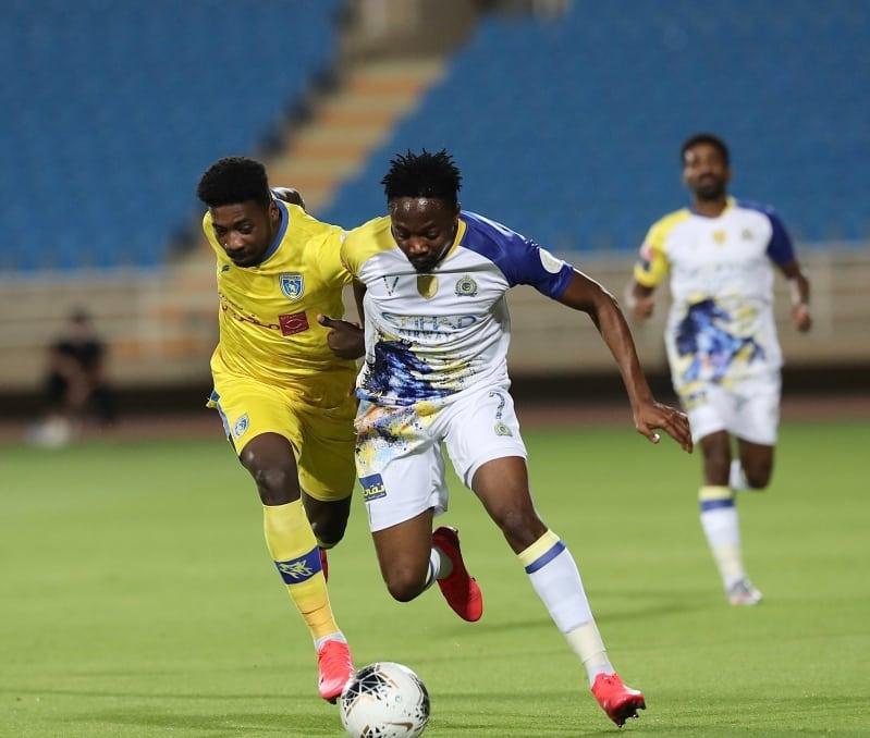 موسى في مباراة النصر ضد التعاون