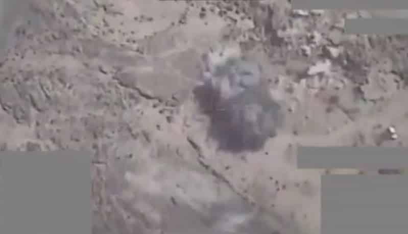 فيديو.. التحالف يستهدف عتاد الميليشيات الحوثية