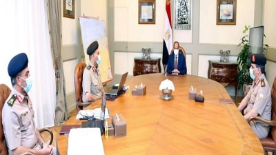 السيسي يدعو الجيش المصري للإبقاء على أعلى درجات الجاهزية