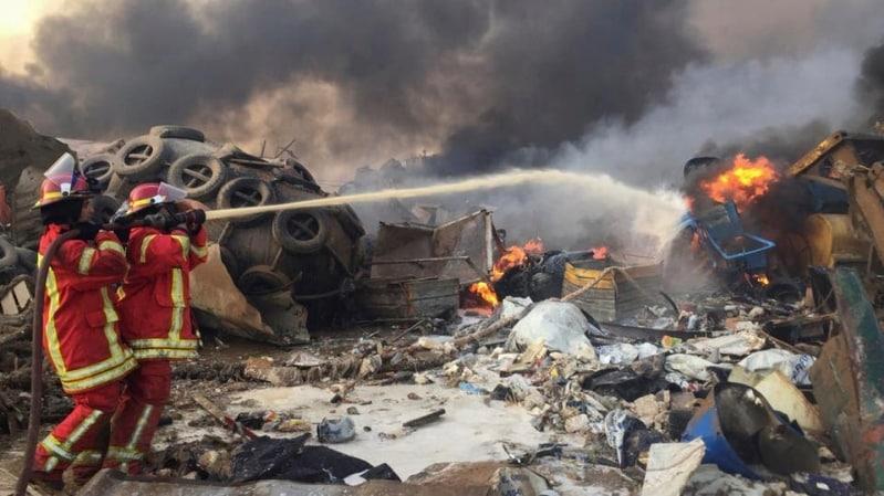أمريكا والكويت تدعوان رعاياهم لتجنب مواقع الانفجار في بيروت