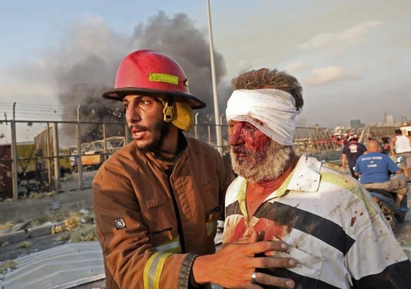 صور وفيديوهات ترصد مشاهد مرعبة لانفجار بيروت الكبير.. الإصابات تتجاوز الـ 1000