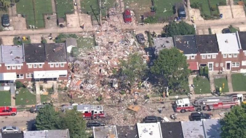 انفجار قوي في بالتيمور الأمريكية يدمر عددًا من المنازل