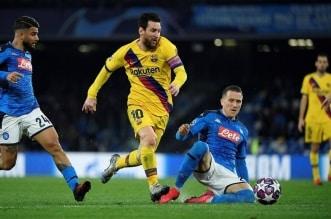 برشلونة ضد نابولي في دوري ابطال اوروبا