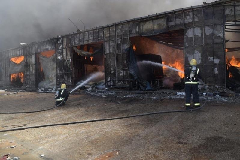 حريق محلات الخيام في الجنادرية الرياض (2)