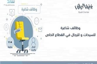 غرفة الرياض تطرح 75 #وظيفة للجنسين بالقطاع الخاص - المواطن