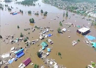 بنغلاديش تغرق بمياه الفيضانات.. صور فضائية تكشف حجم الكارثة