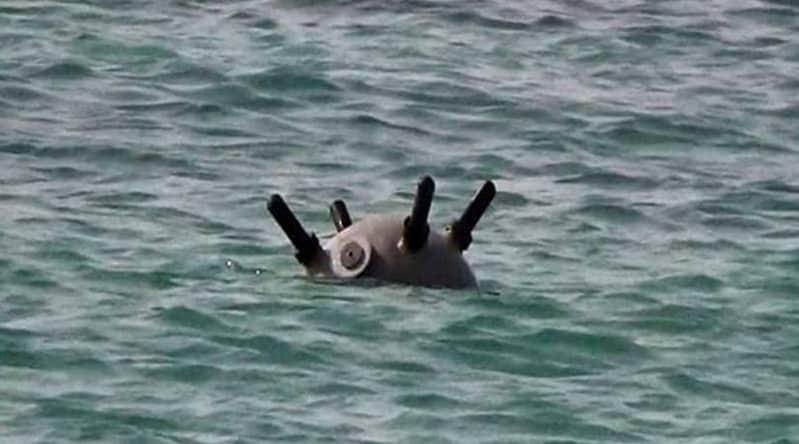 رصد لغم بحري جنوب البحر الأحمر نشرته الميليشيا لتهديد الملاحة