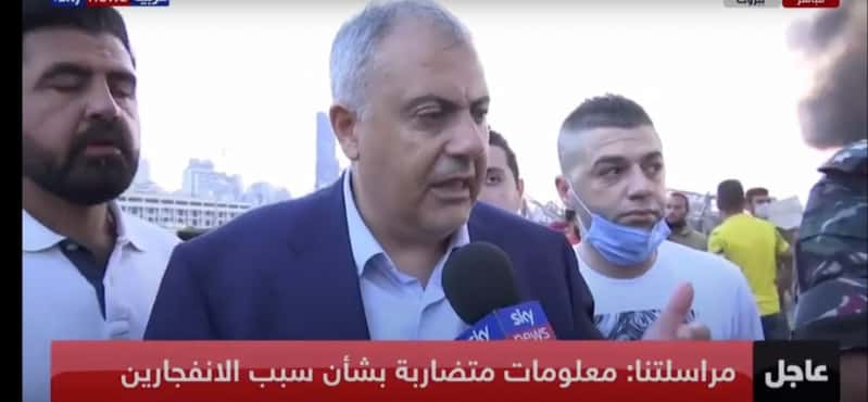 فيديو.. محافظ بيروت باكيًا: ما شفت بحياتي دمار بهذا الكبر