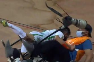 محمد المجحد في مباراة الفيصلي