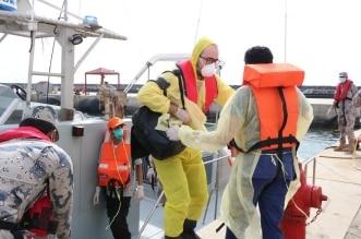 حرس الحدود يخلي بحاراً تركياً على متن سفينة في مياه البحر الأحمر - المواطن