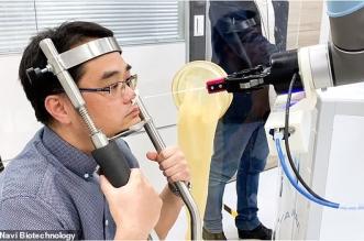 ابتكار روبوت لإجراء اختبار مسحة الأنف للكشف عن كورونا