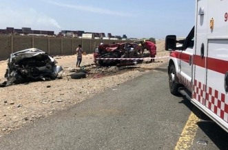 وفاة وإصابة 7 أشخاص بحادث تصادم على طريق الساحل جنوب جدة - المواطن