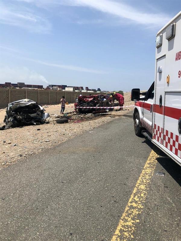 وفاة وإصابة 7 أشخاص بحادث تصادم على طريق الساحل جنوب جدة