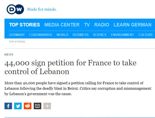 44 ألف لبناني يطالبون بعودة الانتداب الفرنسي