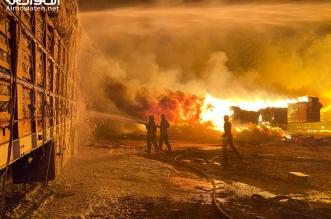 فيديو.. حريق ضخم في سوق الأعلاف بحفر الباطن يستنفر المدني - المواطن