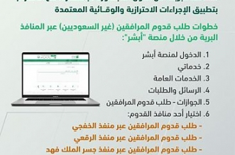 الجوازات: السماح بدخول المواطنين ومرافقيهم عبر المنافذ البرية من الدول المجاورة مباشرة - المواطن