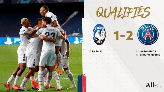 بشق الأنفس .. باريس سان جيرمان يعبر لنصف نهائي دوري الأبطال