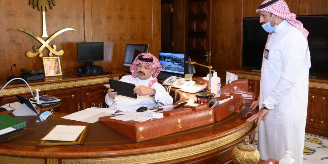 تركي بن طلال يدشن عددًا من الأنظمة التقنية بفرع الهلال الأحمر