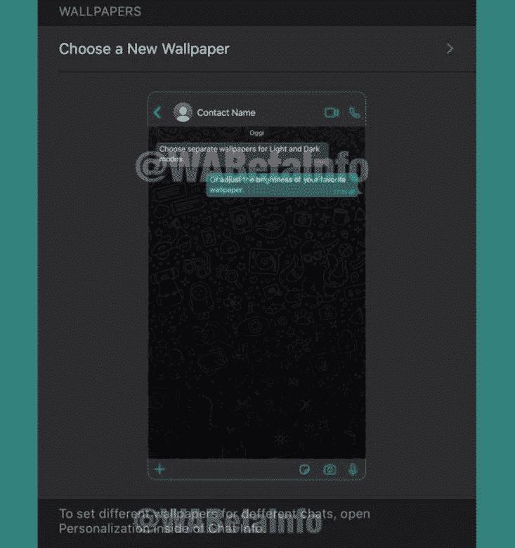 WhatsApp يتيح خاصية تعيين خلفية لكل دردشة لمستخدمي آيفون