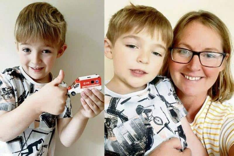 طفل ينقذ أمه بسيارة إسعاف لعبة!