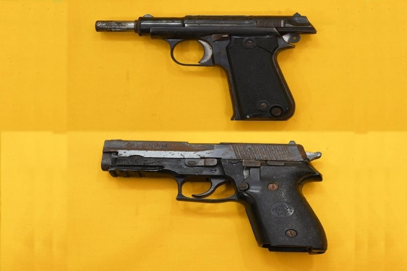 صور الأسلحة المضبوطة مع الخلية الإرهابية - المواطن
