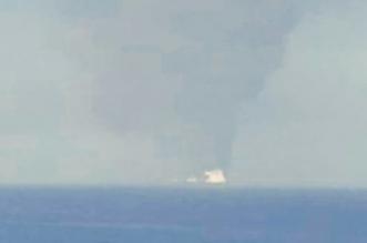 اشتعال النيران في ناقلة نفط عملاقة متوجهة إلى الكويت - المواطن