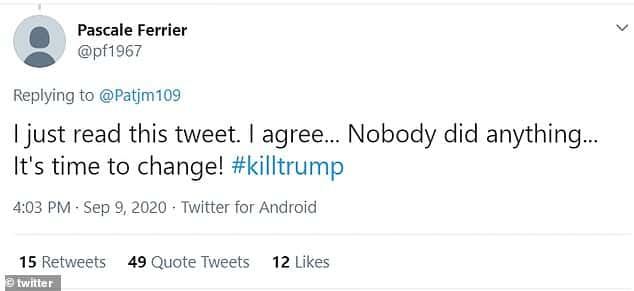 السيدة المتهمة بتسميم ترامب أعلنت نيتها عبر تويتر قبل الحادث بأيام