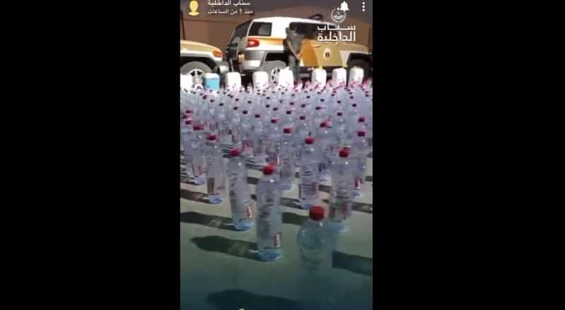 فيديو سناب الداخلية لضبط 1056 قارورة مسكرات بحوزة إثيوبي في الرياض