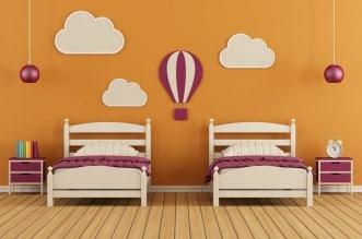 غرف نوم اطفال بسريرين