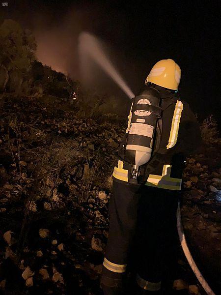 حريق جبل عمد الطائف