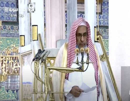 فيديو.. خطيب المسجد النبوي: عليكم بالأخلاق الحسنة والأفعال الطيبة
