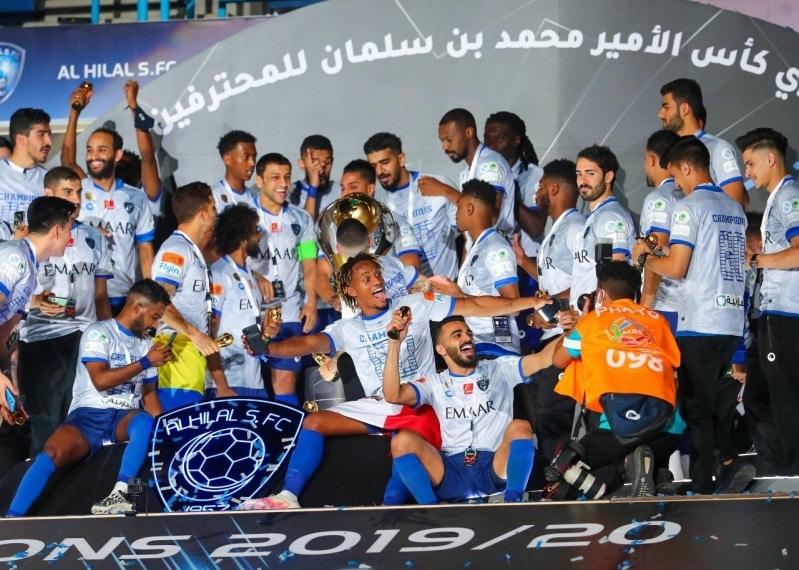 الهلال يحتفل بلقب دوري المحترفين