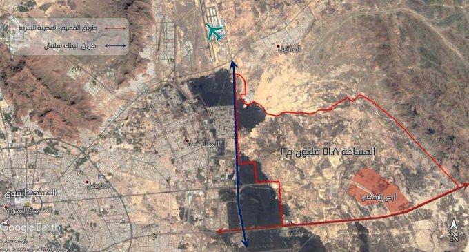 صدور الموافقة على مخطط جنوب مطار المدينة المنورة