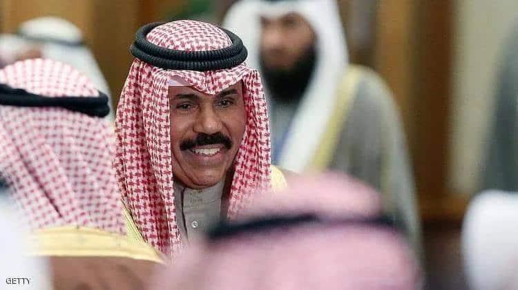 أمير الكويت الشيخ نواف الأحمد الصباح في مجلس الأمة لآداء اليمين الدستورية