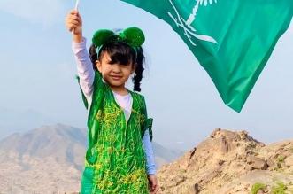 لارين الغامدي طفلة ارتقت قمة جبل شدا تعبيرًا عن مشاعرها في حب الوطن - المواطن
