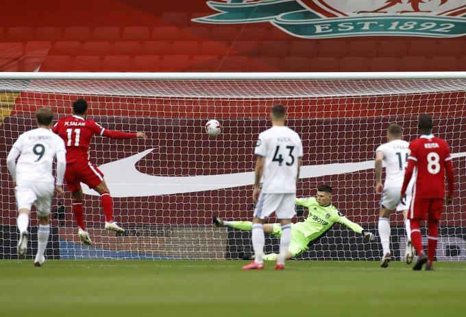 محمد صلاح في مباراة ليفربول ضد ليدز