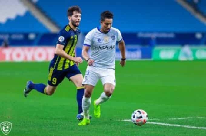 سالم الدوسري في مباراة الهلال وباختاكور في الجولة الرابعة