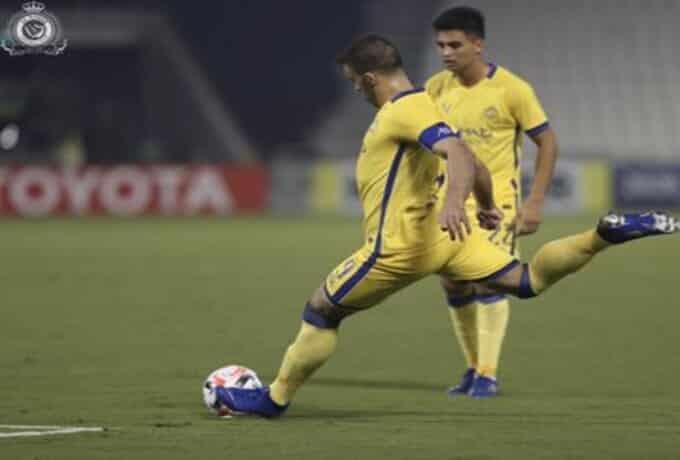 حمدالله في مباراة النصر وسباهان