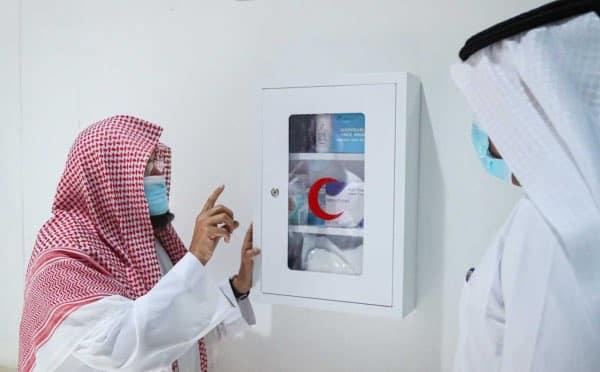 السديس يدشن صناديق الإسعافات الأولية بالمسجد الحرام