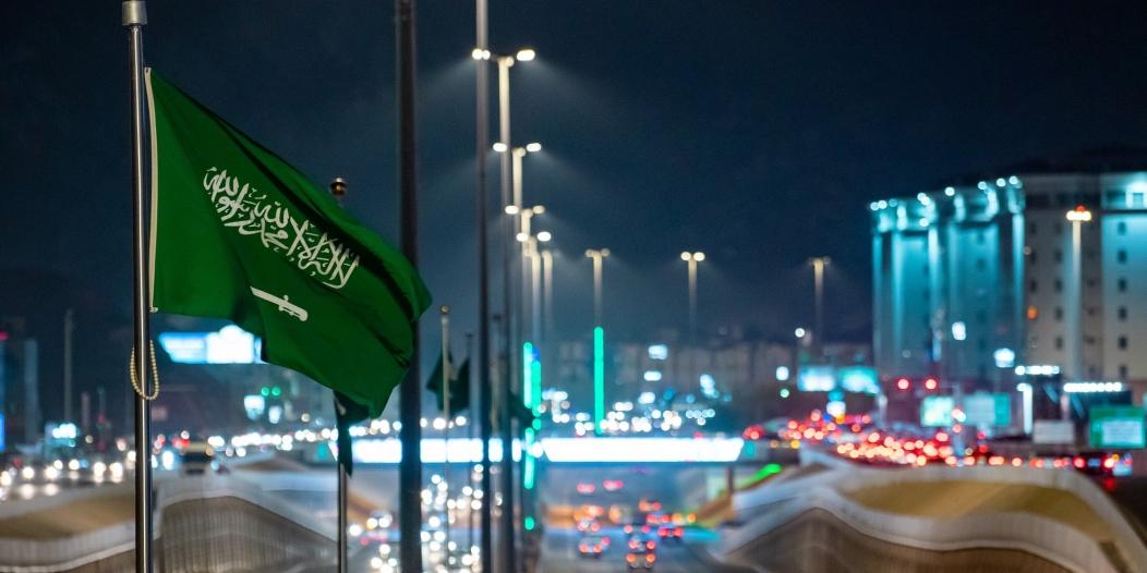 المدينة المنورة تكتسي بـ اللون الأخضر احتفاء بـ اليوم الوطني السعودي 90