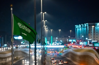 المدينة المنورة تكتسي بـ اللون الأخضر احتفاء بـ اليوم الوطني السعودي 90 - المواطن