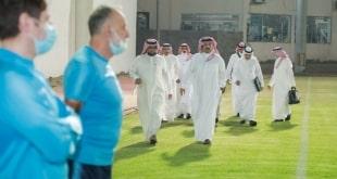 تركي بن طلال يدعم ضمك بزيارة تحفيزية قبل مواجهة الفتح