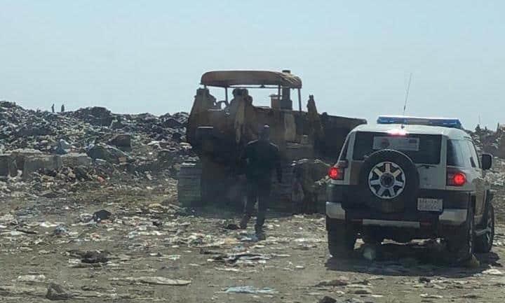 أمانة عسير تستكمل أعمال المدفن المركزي في وادي بن هشبل
