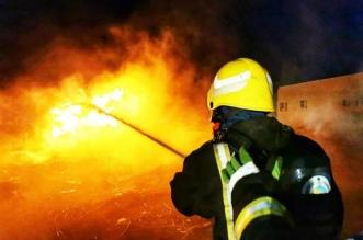 إصابة 5 من الدفاع المدني في إخماد حريق جبل غلامة بتنومة - المواطن