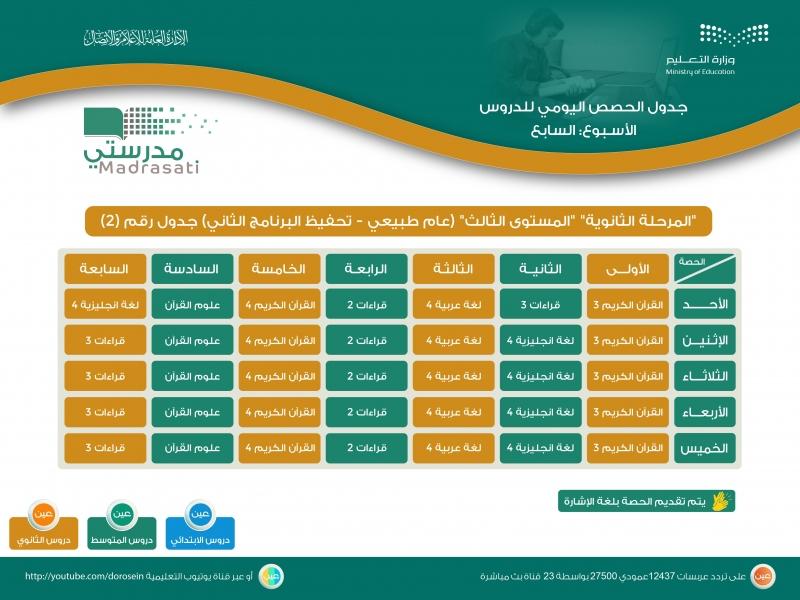 التعليم تعلن جداول دروس حصص الأسبوع السابع لجميع الصفوف 24454