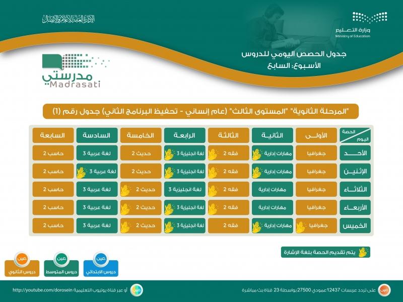 التعليم تعلن جداول دروس حصص الأسبوع السابع لجميع الصفوف 458454