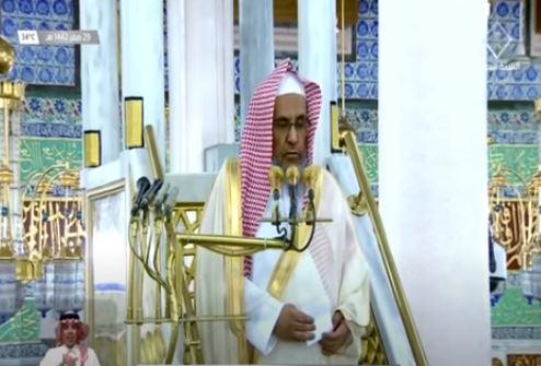 خطيب المسجد النبوي : حاسبوا أنفسكم وأنتم ترون الابتلاءات تترى