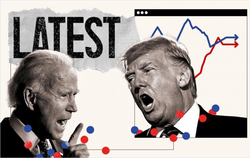 من المتقدم في الولايات المتأرجحة جو بايدن أم دونالد ترامب ؟