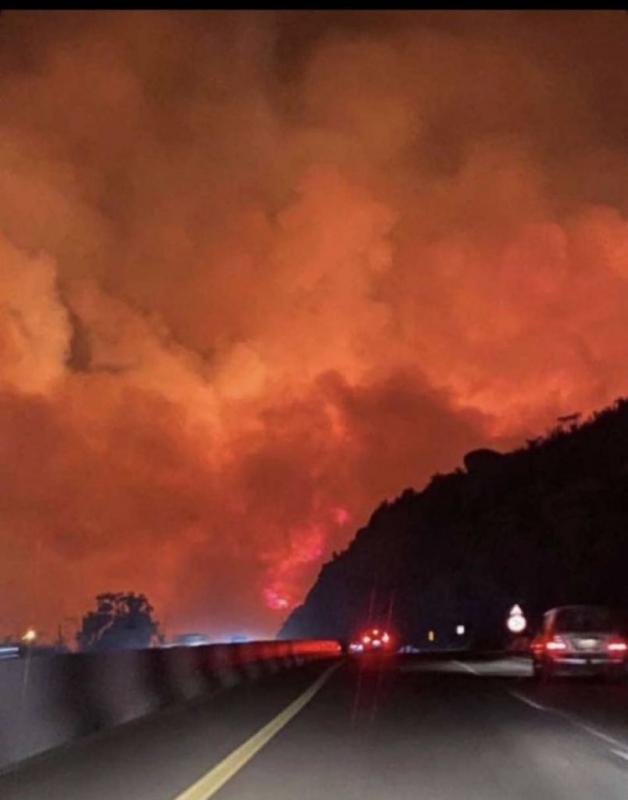 إخماد 70% من مساحة حريق تنومة - المواطن